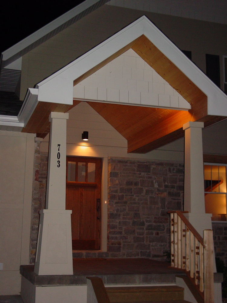 Dpo construction a craftsman cottage style not so big house for Outdoor front porch lights